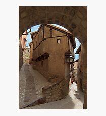 Narrow streets and archways of Albarracin, Aragon, Spain Photographic Print