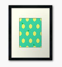 Cute Lemon Pattern Framed Print