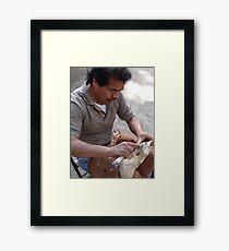 The Artist At The Island Of The River Cuale - El Artista En La Isla Del Rio Cuale Framed Print