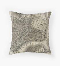 Cojín Vintage Map of New York City (1842)