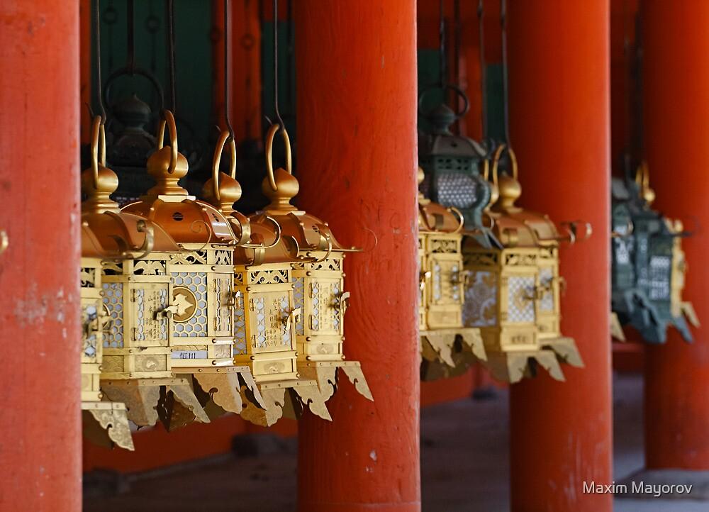 Golden Japanese latern by Maxim Mayorov