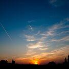 European town sunset by Maxim Mayorov