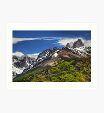 Mountain Peaks - Los Glaciares Art Print