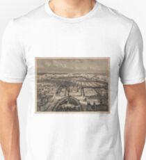 Camiseta unisex Vintage Pictorial Map of New York City (1840)
