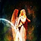 As The World Continues In Turmoil An Angel Prays For Peace by Marie Sharp