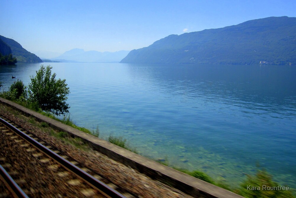 View from a train window by Kara Rountree