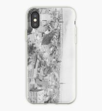 Vinilo o funda para iPhone Vintage Illustration of NYC in 1854 (1907)
