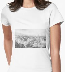 Camiseta entallada para mujer Vintage Illustration of NYC in 1854 (1907)