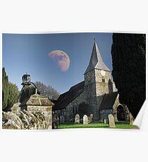 St Bartholomews Moon Poster
