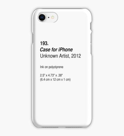 Case, as art iPhone Case/Skin