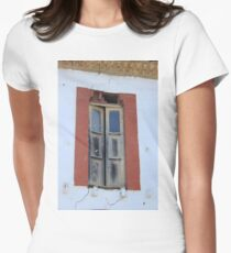 Old Window in a Wall Women's Fitted T-Shirt