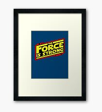 The force is strong... Retro Empire Edition Framed Print