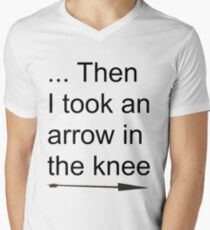 Then I took an arrow in the knee Men's V-Neck T-Shirt