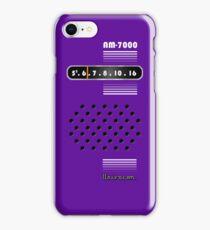 Transistor Radio - 70's Purple iPhone Case/Skin