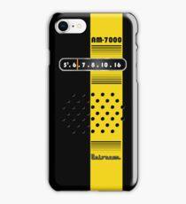 Transistor Radio - 70's Yellow Stripe iPhone Case/Skin
