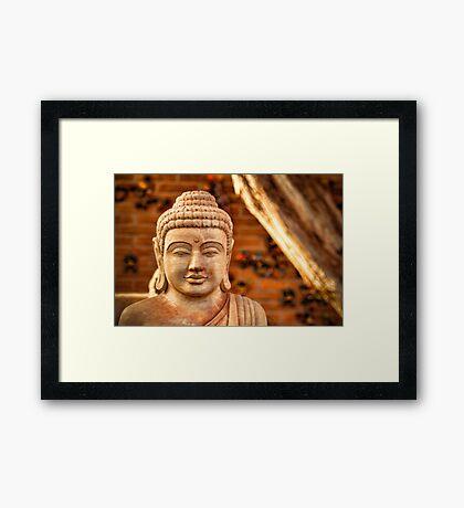 WINTER BUDDHA. Framed Print