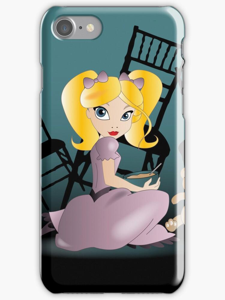 Twisted Tales - Goldilocks iPhone by Lauren Eldridge-Murray