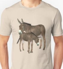 Donkey Mare and Foal  T-Shirt