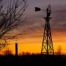 Windmill at Dusk by Dale Lockwood