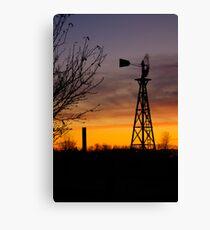 Windmill at Dusk Canvas Print