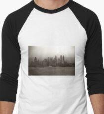 Camiseta ¾ bicolor para hombre Vintage New York City Skyline Photograph (1941)