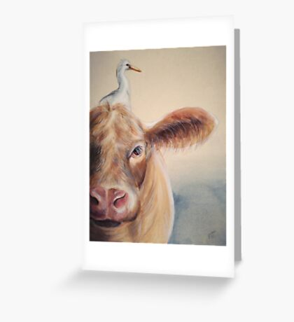 Roundabout Cow Greeting Card