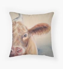 Roundabout Cow Throw Pillow