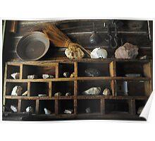 Sleepy Antique Shelves Poster