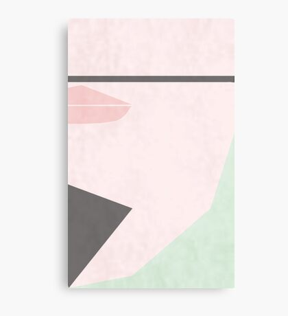 Minimal goatee Canvas Print