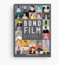 Bond Film Alphabet Canvas Print