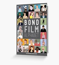 Bond Film Alphabet Greeting Card