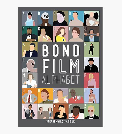 Bond Film Alphabet Photographic Print