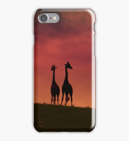 Sunset Giraffes iPhone Case/Skin