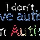 "I Don't ""Have"" Autism  (Sketchy) by Amythest Schaber"