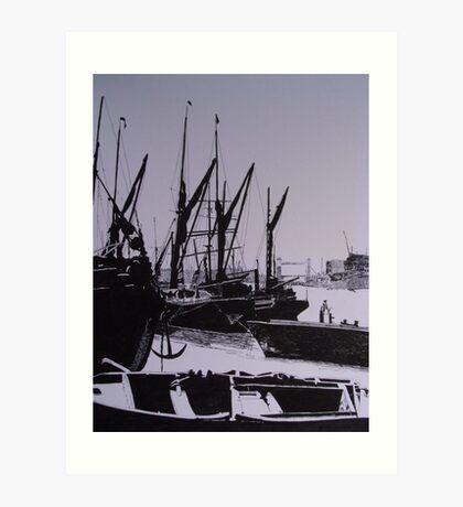 London Docks (1800)s Art Print