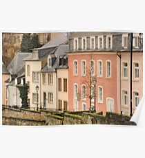 Luxembourg Rowhouses Poster