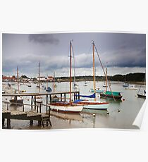 Boats at Woodbridge Poster