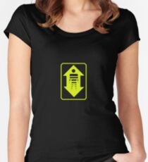 Transporter signage Women's Fitted Scoop T-Shirt