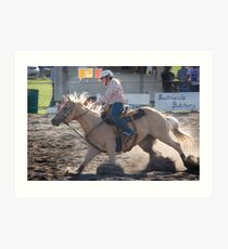 Moruya Rodeo Barrel Racing Art Print