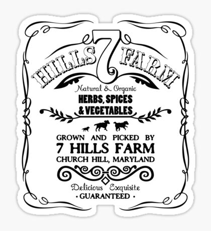 7 HILLS FARM Sticker