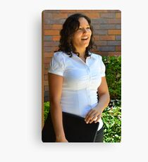 Young businesswoman standing  Canvas Print