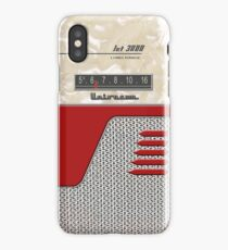 Transistor Radio - 50's Jet Red iPhone Case/Skin