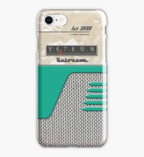 Transistor Radio - 50's Jet Green iPhone Case/Skin