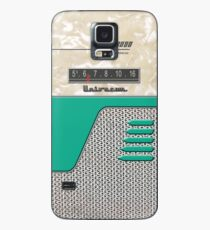 Transistor Radio - 50's Jet Green Hülle & Klebefolie für Samsung Galaxy