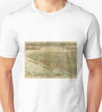 Vintage Pictorial Map of Galveston TX (1885) Unisex T-Shirt
