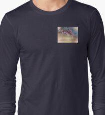 Serenity Prayer Blossoms Blue House Long Sleeve T-Shirt