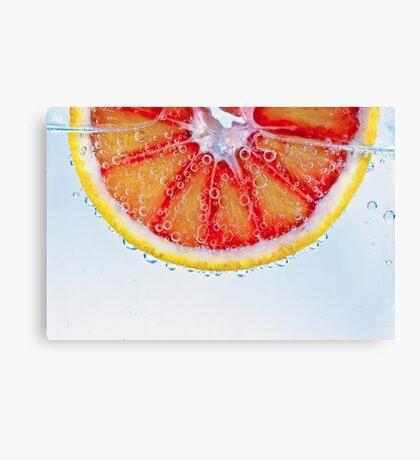 Macro Blood Orange Canvas Print