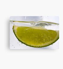 Macro Lime Canvas Print
