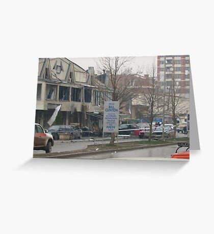 Clinton  Boulevard, Prishtine. Greeting Card