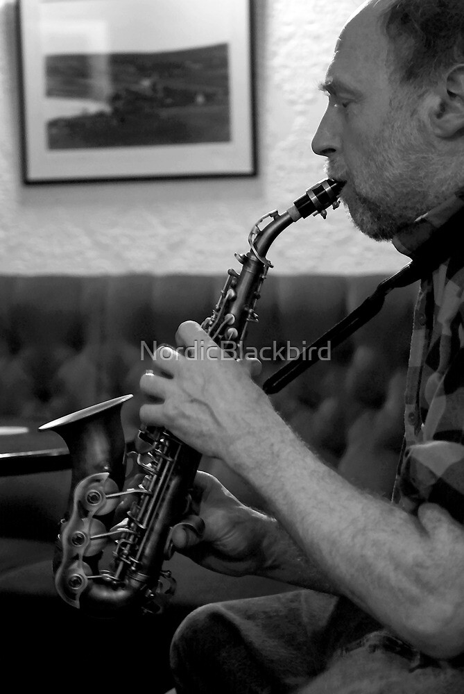the saxophonist by NordicBlackbird